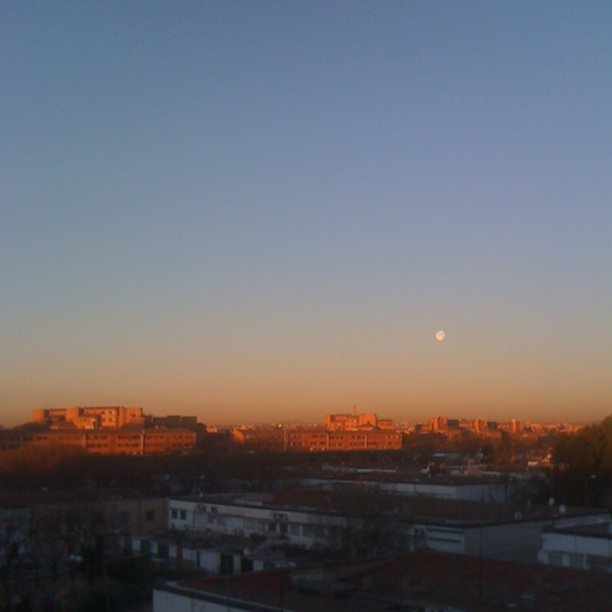 Sunrise moon